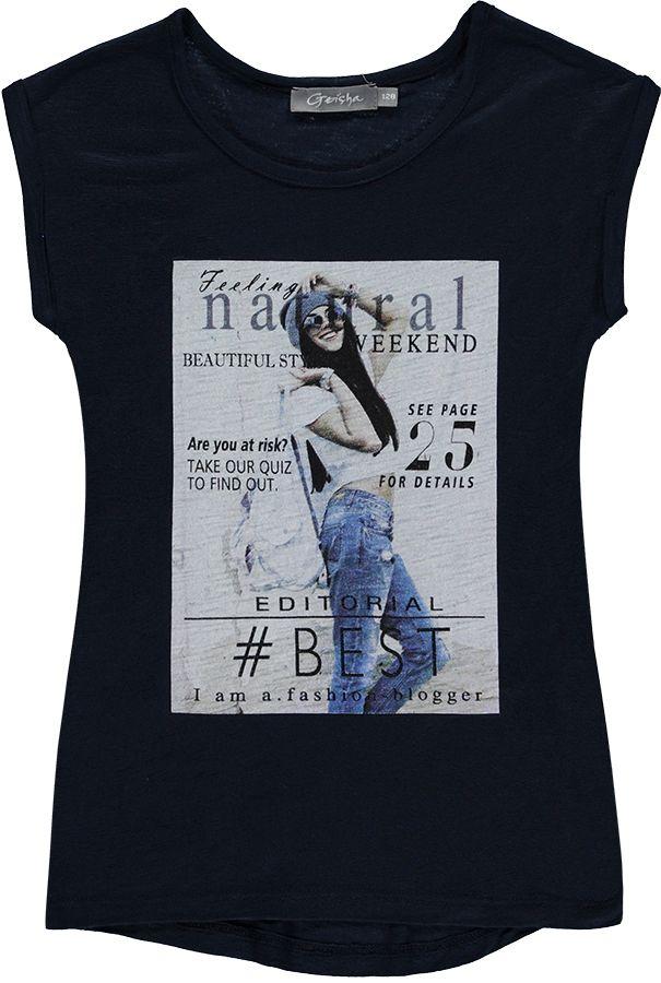 Geisha Shirt Blauw meisjes 9519