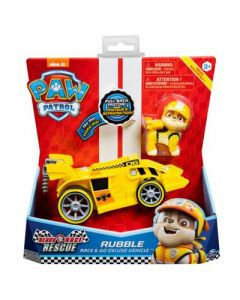 SPINMASTER Paw Patrol Race Themed Vehicle Rubble