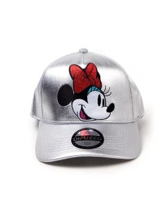 Disney - Minnie Mouse Silver Curved Bill Cap