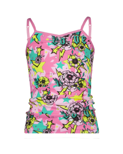 VN6024 Vingino  G 212-12 PINK FLOWER SPACE SINGLET