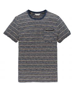 MEN9014 Cast Iron  R-neck stripe jersey