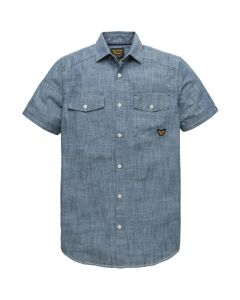 MEN9249 PME Legend  Short sleeve shirt chambrey slub