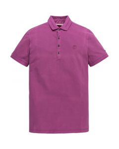 MEN9259 Cast Iron  Short sleeve polo light pique stre