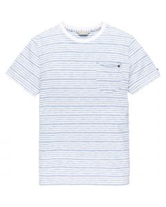 MEN9013 Cast Iron  R-neck stripe jersey