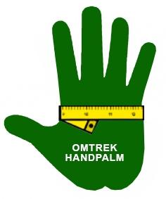 omtrek handpalm
